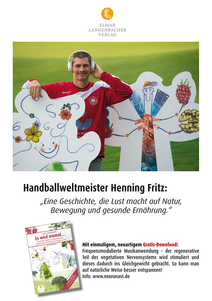 """Henning Fritz, Botschafter für das Buch """"Es wird einmal…"""" - erschienen im Elmar Langenbacher Verlag"""